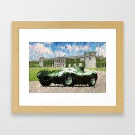Jaguar D-Type Framed Art Print