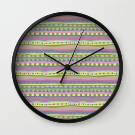 Stripey-Fairytale Colors Wall Clock