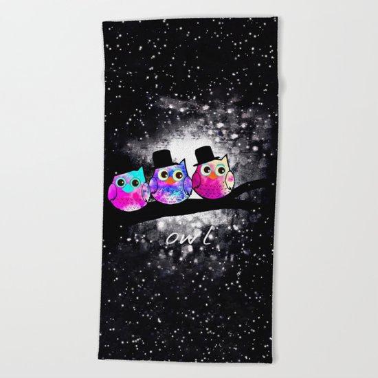 owl-434 Beach Towel