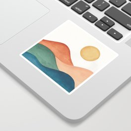 Colorful Abstract Mountains Sticker