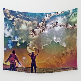 Flying Pigs Wall Tapestry