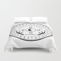 ouija Duvet Covers featuring Ouija by ANOMIC DESIGNS