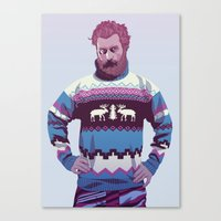 90s Canvas Prints featuring 80/90s - Trmd by Mike Wrobel