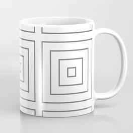 Maze Charcoal on White Coffee Mug