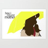 himym Art Prints featuring The Mother - HIMYM by vulpineCyanide