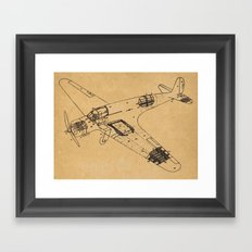Airplane diagram Framed Art Print