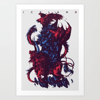 iceland Art Prints featuring Iceland by Ivan Belikov