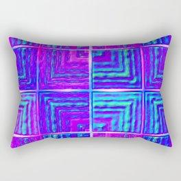 Checkered ultraviolet Rectangular Pillow