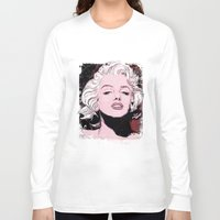 monroe Long Sleeve T-shirts featuring Monroe by Todd Bane
