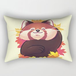 Relaxing Red Panda Rectangular Pillow