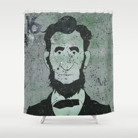 lincoln Shower Curtains featuring Lincoln by Doren Chapman