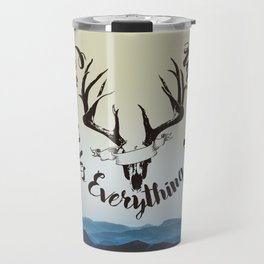 Caffeine Rules Everything Around Me Travel Mug