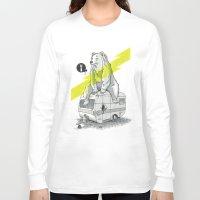 camping Long Sleeve T-shirts featuring Camping Bear by Duke.Doks