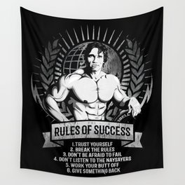 Gym Fitness Motivation Success Rules Bodybuilding Wall Tapestry