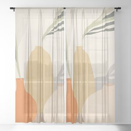 Vases2 Sheer Curtain