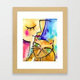 My Crazy Cat No. 3 by Kathy Morton Stanion Framed Art Print