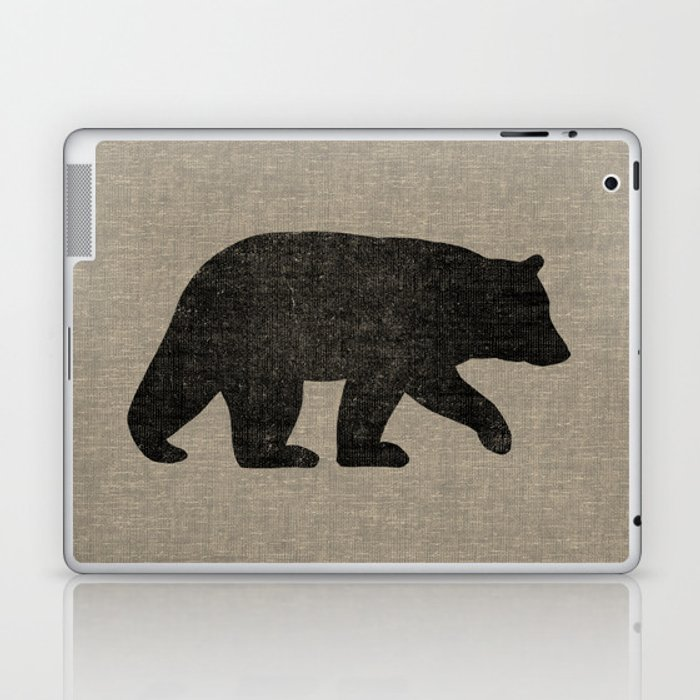 Black Bear Silhouette Laptop & iPad Skin