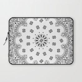 Bandana - White - Paisley - Southwestern Laptop Sleeve