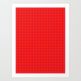 Scarlet Red and Crimson Red Diamonds Art Print