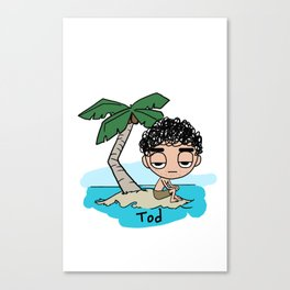 Tod on an island Canvas Print