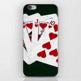 Poker Royal Flush Hearts iPhone Skin
