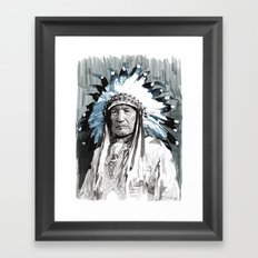 Native American Chief Framed Art Print