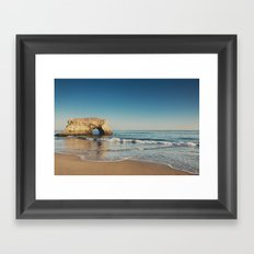 Natural Bridges State Beach ... Framed Art Print