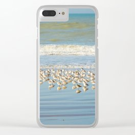 Birds, reflections in water Clear iPhone Case