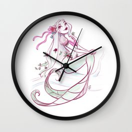 May Day Mermaid Wall Clock