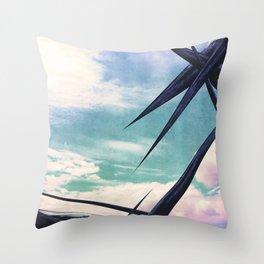 Sky Holidays Throw Pillow