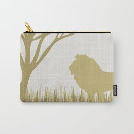 Lion on the Plains Carry-All Pouch