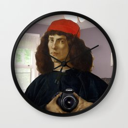Ancient selfie Wall Clock