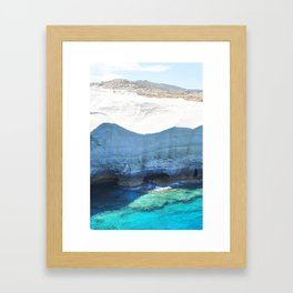 250. Moon Walk, Greece Framed Art Print