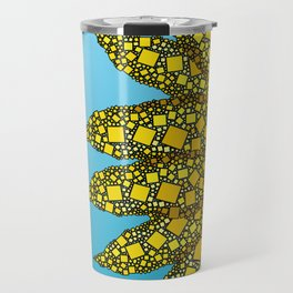 Sunflower in Abstract Form - Flower field - Autumn and summer collide - 57 Montgomery Ave Travel Mug