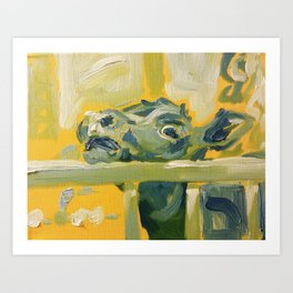 All Is Resolved Between Calf and Lamb Art Print