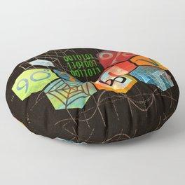 Math Game in black Floor Pillow