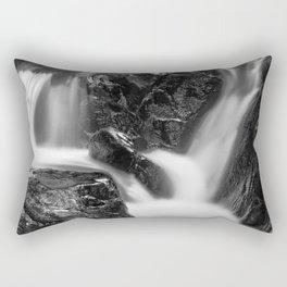 Shelving Rock Stream - Black & White Rectangular Pillow