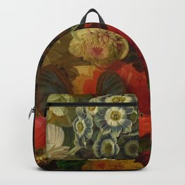 """Baroque Spring of Flowers and Butterflies"" Backpack"