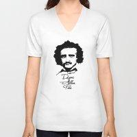 edgar allan poe V-neck T-shirts featuring Edgar Allan Poe  by SINPE