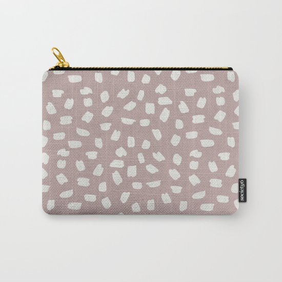 Simply Ink Splotch Lunar Gray on Clay Pink Carry-All Pouch
