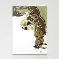daenerys Stationery Cards featuring The Serpent Mother by Luis Uzcategui