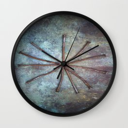 Circle of Nails Wall Clock