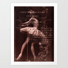Ballerina I (brown edition) Art Print