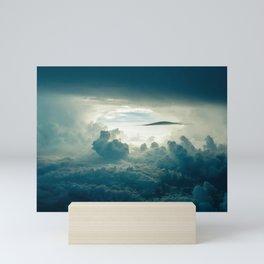 Dark Clouds Aerial View Mini Art Print