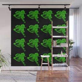 Gotcha - Green on Black Wall Mural