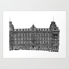 Butlin's Grand Hotel, Scarborough, UK Art Print