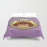 daria Duvet Covers featuring Morgendorffer. by Area51