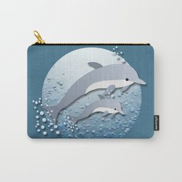 Jumping Dolphins Carry-All Pouch