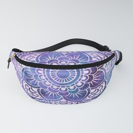 Galaxy Mandala Purple Lavender Blue Fanny Pack