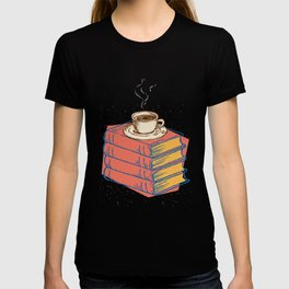 Books And Coffee Bookworms Readers Nerds Gift T-shirt